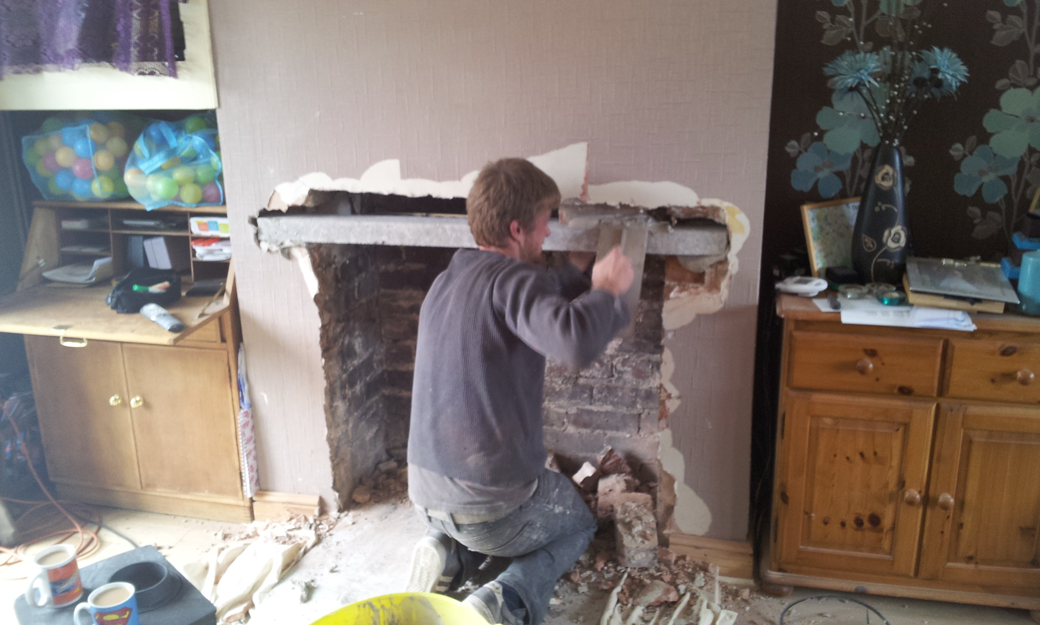 fireplace lintel & Opening up a fireplace for the installation of a wood burning stove ...