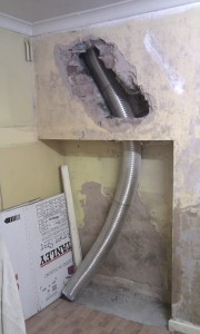 lining a chimney