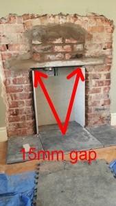 lining a fireplace gap
