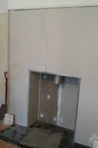 plastering chimney breast