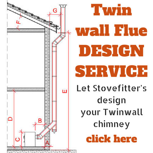 Installing A Twin Wall Flue Chimney on a frame cabin house plan
