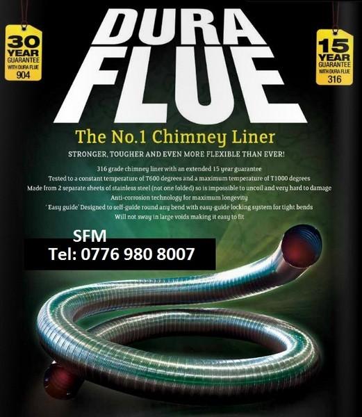 Chimney flue liner dura flue