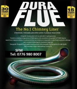 Dura flue chimney liner