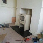air gap around wood burning stove