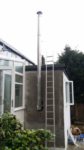 Installing A Twin Wall Flue Chimney For A Wood Burning
