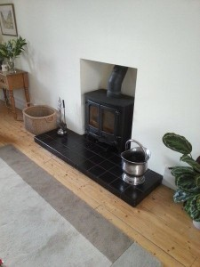 smooth lining of fireplace