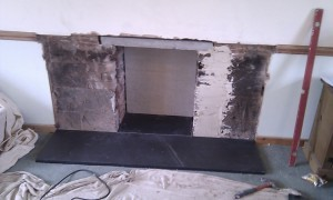 slate hearth for wood burner