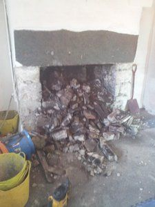 opening up an old fireplace