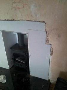plastering chimney