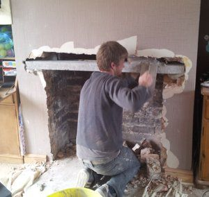 Fitting A Fireplace Lintel For A Wood Burner The Stove