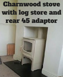 Air gap around wood burning stoves